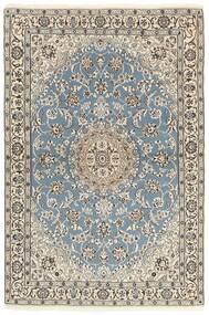 Nain 9La Teppe 118X177 Ekte Orientalsk Håndknyttet Lys Grå/Beige (Ull/Silke, Persia/Iran)