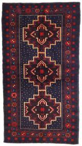 Beluch Teppe 108X195 Ekte Orientalsk Håndknyttet Mørk Lilla/Mørk Rød (Ull, Afghanistan)