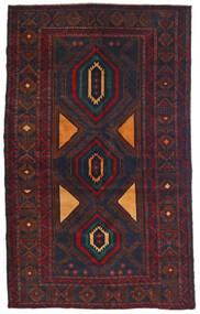 Beluch Teppe 115X180 Ekte Orientalsk Håndknyttet Svart/Mørk Rød (Ull, Afghanistan)