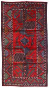 Beluch Teppe 110X200 Ekte Orientalsk Håndknyttet Mørk Rød/Mørk Brun (Ull, Afghanistan)