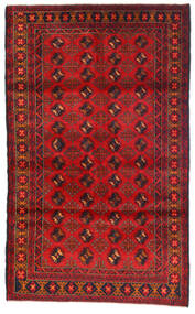 Beluch Teppe 115X185 Ekte Orientalsk Håndknyttet Mørk Rød/Rust (Ull, Afghanistan)