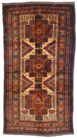 Beluch Teppe 110X205 Ekte Orientalsk Håndknyttet Mørk Brun/Mørk Rød (Ull, Afghanistan)