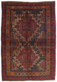 Beluch Teppe 120X175 Ekte Orientalsk Håndknyttet Svart/Mørk Brun (Ull, Afghanistan)