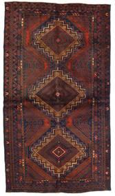 Beluch Teppe 110X195 Ekte Orientalsk Håndknyttet Mørk Brun/Mørk Rød (Ull, Afghanistan)