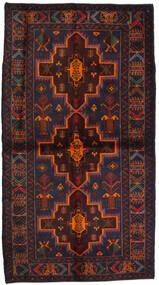 Beluch Teppe 115X195 Ekte Orientalsk Håndknyttet Svart/Mørk Rød (Ull, Afghanistan)
