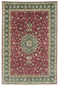 Tabriz 50 Raj Teppe 245X362 Ekte Orientalsk Håndknyttet Mørk Grå/Mørk Rød (Ull, Persia/Iran)