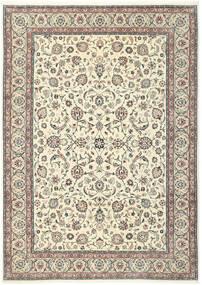 Kashmar Teppe 244X344 Ekte Orientalsk Håndknyttet Beige/Lys Grå (Ull/Silke, Persia/Iran)