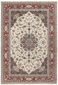 Isfahan Silkerenning Teppe 250X360 Ekte Orientalsk Håndknyttet Lys Grå/Beige Stort (Ull/Silke, Persia/Iran)
