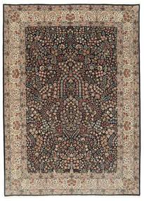 Kerman Lavar Teppe 250X348 Ekte Orientalsk Håndknyttet Lys Grå/Svart Stort (Ull/Silke, Persia/Iran)