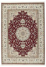 Tabriz 50 Raj Med Silke Teppe 248X347 Ekte Orientalsk Håndknyttet Lys Grå/Mørk Rød (Ull/Silke, Persia/Iran)