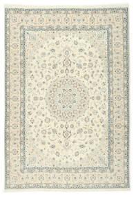 Nain 9La Sherkat Farsh Teppe 250X353 Ekte Orientalsk Håndknyttet Beige/Hvit/Creme Stort (Ull/Silke, Persia/Iran)
