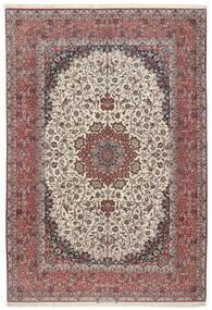 Isfahan Silkerenning Teppe 255X374 Ekte Orientalsk Håndknyttet Lys Grå/Brun Stort (Ull/Silke, Persia/Iran)