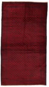 Beluch Teppe 106X194 Ekte Orientalsk Håndknyttet Mørk Rød (Ull, Afghanistan)