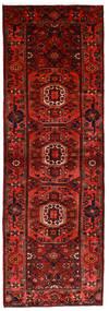 Hamadan Teppe 104X315 Ekte Orientalsk Håndknyttet Teppeløpere Mørk Rød/Rust (Ull, Persia/Iran)
