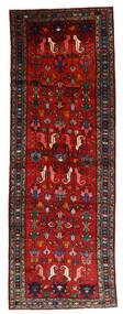 Hamadan Teppe 108X304 Ekte Orientalsk Håndknyttet Teppeløpere Mørk Rød/Rust/Svart (Ull, Persia/Iran)