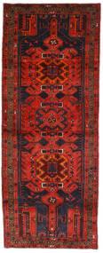 Hamadan Teppe 112X289 Ekte Orientalsk Håndknyttet Teppeløpere Mørk Rød/Mørk Brun (Ull, Persia/Iran)
