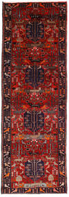 Hamadan Teppe 104X307 Ekte Orientalsk Håndknyttet Teppeløpere Mørk Rød/Mørk Brun (Ull, Persia/Iran)