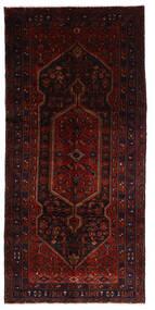 Hamadan Teppe 146X308 Ekte Orientalsk Håndknyttet Teppeløpere Mørk Rød (Ull, Persia/Iran)