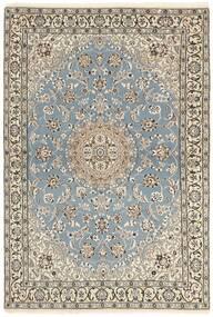 Nain 9La Teppe 115X175 Ekte Orientalsk Håndknyttet Lys Grå/Beige (Ull/Silke, Persia/Iran)