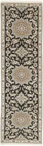 Nain 9La Teppe 81X291 Ekte Orientalsk Håndknyttet Teppeløpere Lys Grå/Mørk Grå (Ull/Silke, Persia/Iran)