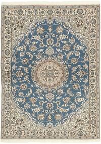 Nain 9La Teppe 118X171 Ekte Orientalsk Håndknyttet Lys Grå/Beige (Ull/Silke, Persia/Iran)