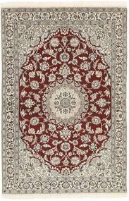 Nain 9La Teppe 115X189 Ekte Orientalsk Håndknyttet Lys Grå/Mørk Brun (Ull/Silke, Persia/Iran)