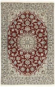 Nain 9La Teppe 114X180 Ekte Orientalsk Håndknyttet Lys Grå/Mørk Rød (Ull/Silke, Persia/Iran)