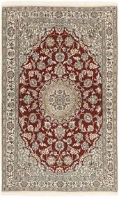 Nain 9La Teppe 113X186 Ekte Orientalsk Håndknyttet Lys Grå/Beige (Ull/Silke, Persia/Iran)