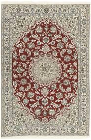 Nain 9La Teppe 118X183 Ekte Orientalsk Håndknyttet Lys Grå/Beige (Ull/Silke, Persia/Iran)