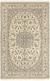 Nain 9La Teppe 152X248 Ekte Orientalsk Håndknyttet Beige/Lys Grå (Ull/Silke, Persia/Iran)
