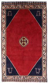 Shiraz Teppe 120X205 Ekte Orientalsk Håndknyttet Rød/Mørk Rød (Ull, Persia/Iran)