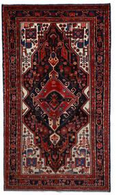 Hamadan Teppe 164X289 Ekte Orientalsk Håndknyttet Mørk Rød (Ull, Persia/Iran)