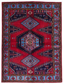 Wiss Teppe 157X211 Ekte Orientalsk Håndknyttet Mørk Rød/Mørk Lilla (Ull, Persia/Iran)