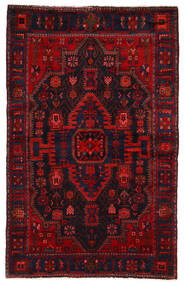 Nahavand Teppe 142X225 Ekte Orientalsk Håndknyttet Mørk Rød/Rust (Ull, Persia/Iran)