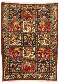 Bakhtiar Collectible Teppe 107X145 Ekte Orientalsk Håndknyttet Svart/Rød (Ull, Persia/Iran)