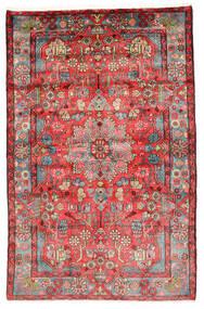Nahavand Old Teppe 154X241 Ekte Orientalsk Håndknyttet Mørk Rød/Rust (Ull, Persia/Iran)