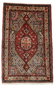 Bakhtiar Collectible Teppe 100X158 Ekte Orientalsk Håndknyttet Mørk Brun/Mørk Rød (Ull, Persia/Iran)