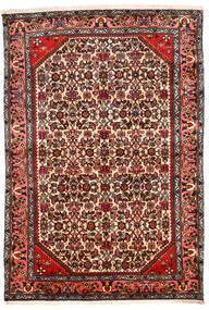 Hamadan Teppe 131X194 Ekte Orientalsk Håndknyttet Mørk Brun/Beige (Ull, Persia/Iran)