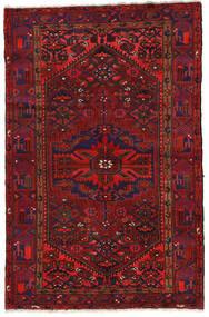 Zanjan Teppe 140X213 Ekte Orientalsk Håndknyttet Mørk Rød/Svart (Ull, Persia/Iran)