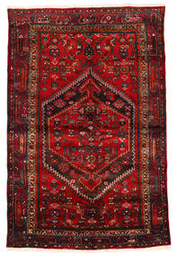 Zanjan Teppe 133X203 Ekte Orientalsk Håndknyttet Mørk Rød/Mørk Brun/Rust (Ull, Persia/Iran)