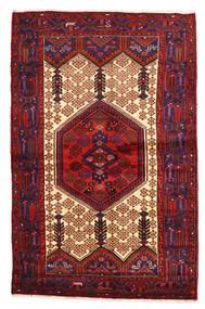 Hamadan Teppe 135X209 Ekte Orientalsk Håndknyttet Mørk Rød/Svart (Ull, Persia/Iran)