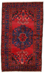 Zanjan Teppe 126X216 Ekte Orientalsk Håndknyttet Mørk Lilla/Mørk Rød (Ull, Persia/Iran)