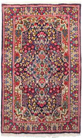 Kerman Teppe 91X150 Ekte Orientalsk Håndknyttet Mørk Rød/Mørk Lilla (Ull, Persia/Iran)