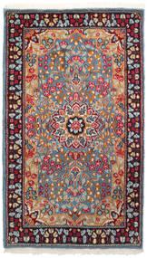Kerman Teppe 90X155 Ekte Orientalsk Håndknyttet Mørk Rød/Lys Grå (Ull, Persia/Iran)