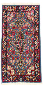 Kerman Teppe 57X111 Ekte Orientalsk Håndknyttet Mørk Rød/Mørk Lilla (Ull, Persia/Iran)