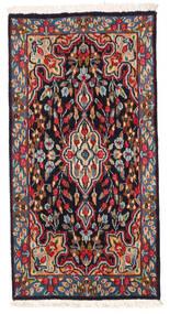Kerman Teppe 58X114 Ekte Orientalsk Håndknyttet Mørk Rød/Svart (Ull, Persia/Iran)