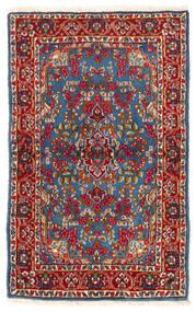 Kerman Teppe 92X149 Ekte Orientalsk Håndknyttet Mørk Rød/Blå (Ull, Persia/Iran)
