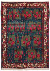 Afshar Teppe 163X228 Ekte Orientalsk Håndknyttet Mørk Rød/Mørk Blå/Mørk Turkis (Ull, Persia/Iran)
