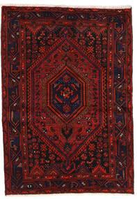 Zanjan Teppe 139X200 Ekte Orientalsk Håndknyttet Mørk Rød/Rust (Ull, Persia/Iran)