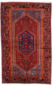 Hamadan Teppe 135X215 Ekte Orientalsk Håndknyttet Mørk Rød/Mørk Brun (Ull, Persia/Iran)